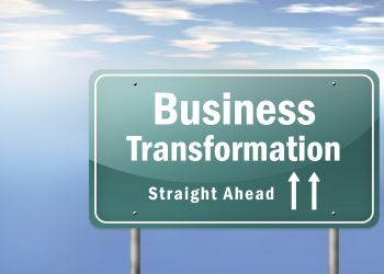 Highway Signpost with Business Transformation wording