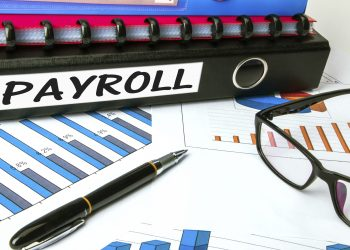 payroll concept on business folder